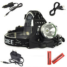 5000 Lumen XM-L T6 LED 18650 Headlamp Headlight Head Lamp Light Torch Flashlight