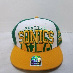 Seattle Supersonics Sonics Green Hat/Yellow Brim '47 Hardwood Classics Snapback