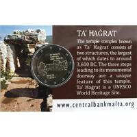 2 euro Malta 2019 UNESCO: Ta Hagrat coincard CON CORNUCOPIA