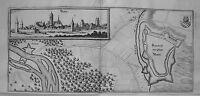 Rain am Lech  Bayern echter alter  Merian Kupferstich der Erstausgabe 1644