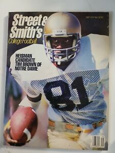 Notre Dame Street & Smith Magazine Tim Brown '87 Heisman Trophy Winner Go Irish