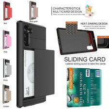 Samsung Galaxy S20 Ultra Note 10 Plus 5G Slide Armor Card Slot Shockproof Case