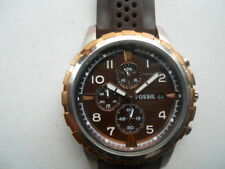 Fossil chronograph men's rubber band,Analog,battery & Analog used watch. Fs-4612