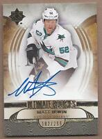 2013-14 UD Ultimate hockey card autographed Matt Irwin San Jose Sharks