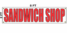 Sandwich Shop Banner Sign 2x8 for Business Shop Building Store Front