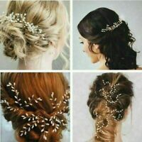 3X Gypsophila Pearls Hair Pins Sticks Accessories Wedding Brides Bride Prom U6P7