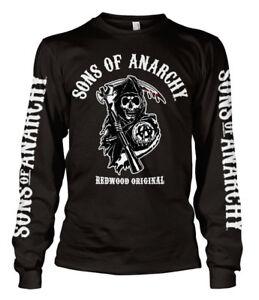 Official Licensed SOA - Redwood Original Long Sleeve T-Shirt S-XXL (Black)