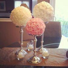 30cm Artificial Silk Flower Rose Kissing Balls Wedding Pomander Bouquet Decor