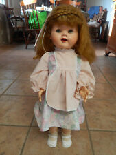 """Vintage 23"""" Tall Hard Plastic Doll By Ideal Doll"""