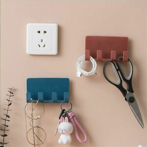 Home Storage Bracket Practical Phone Charging 4 Hooks Wall Mount Stand Holder