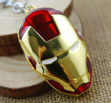 1PCS Iron Man Red Metal Mask Keychain Key Chain Ring Keyring Super Hero Pendant