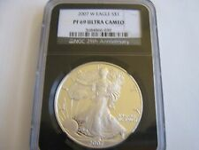 2007-W , American Eagle , NGC , PF 69 , Ultra Cameo ( Black Retro Label)