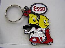 Esso drip man & woman on scooter lambretta vespa keyring metal      699