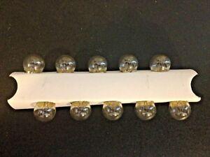 10 GMC 53 Clear Mini 12V Clock Instrument Panel Glove Box Lamps Light Bulbs NOS