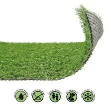 More details for 20mm artificial grass realistic quality garden green lawn fake astro turf 4mx1m