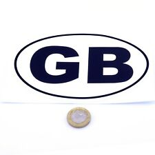 White GB Car Sticker Self Adhesive Oval Badge Vinyl Decal 150mm x 100mm