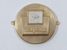 Vintage Hotpoint Emblem Metal Appliance Decal Script Trim Deco Sign Nameplate
