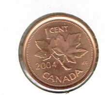 2004 Uncirculated Canadian Zinc Core One cent Coin!