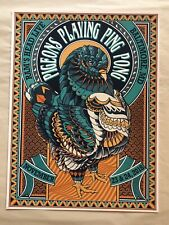 Pigeons Playing Ping Pong Ram's Head Live Baltimore Poster Print 11/23&24/18 New
