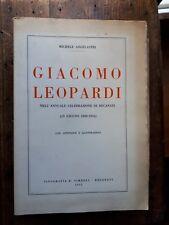 Angelastri - Giacomo Leopardi nell'annuale celebrazione di Recanati, 1898-1954