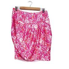ADOLFO DOMINGUEZ *BNWT* RRP £99 Pink Liquid Satin Tulip Skirt Size 14 42 (M1)