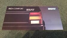 August 1988 /  1989 SEAT IBIZA COMFORT Special Edition UK SMALL FOLDER BROCHURE