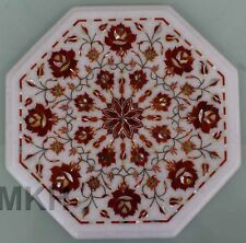 Handmade Marble Coffee Table Top Inlay End Tables 90 Century Design Marquetry