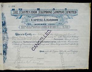 Uruguay The Montevideo Telephone Company 1912