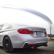 Painted Rear Trunk Spoiler  for BMW 4 Series F32 P Style Titan Silver 354