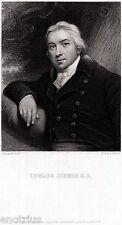 Edward Jenner: medico, vaccino antivaioloso. Medicina. Immunologia. Acciaio.1850