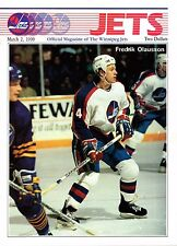 1990 Winnipeg Jets Home vs Los Angeles Kings NHL Hockey Program #97