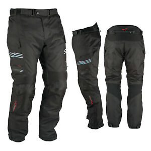Motorcycle Trousers Waterproof Motorbike Textile Thermal Black Size 40
