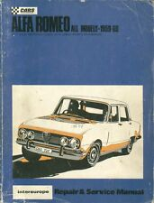 ALFA ROMEO GIULIETTA GIULIA ( INC GTA & GTV ) DUETTO 1959-69 OWNER REPAIR MANUAL