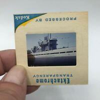 1966 Vintage German U-505 Submarine 35mm Slide   W6