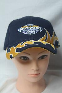 2004 Brickyard 400 Hat Cap Blue Yellow Strapback Racing Flame One Size New!