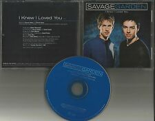 Darren hayes SAVAGE GARDEN I Knew I loved you PROMO DJ CD single PRINTED LYRICS