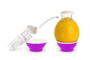 Patent-Safti,Entsafter,Safti,Zitronenpresse,Zitronen Ausgießer (Pink)