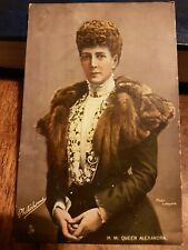 H.M QUEEN ALEXANDRA ROYALTY POSTCARD 1906