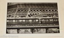 Carte Postale Photo Frank HORVAT : PARIS TOUR EIFFEL et METRO 1956 Edition 1995