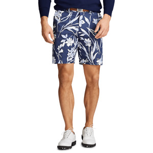 """Polo Ralph Lauren Men's Golf Chino 9"""" Shorts Ink Floral Navy Size 32 New NWT 🔥"""