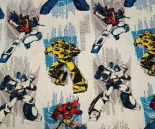 Transformers on Head BTY Camelot Cottons 100% Cotton Fabric White