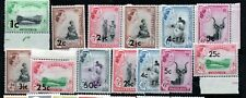 Swaziland 1961 ovpts to 50c mint