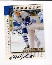1998 Pinnacle Mike Johnson Auto Be a Player Card 218