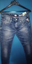 Da Uomo Replay johndrill Jeans Skinny Fit in Blu Scuro