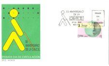 1988 SPD 50 ANIVERSARIO ONCE CIEGOS EDIFIL 2985 BLIND FDC   TC11259