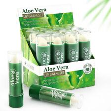 24 x Lip Balm Aloe Vera Lip Care Lipstick Full Size Made in EU Display Box UK