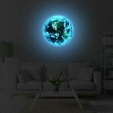 3D Earth Sticker Glow In The Dark Luminous Stars Home Wall Room Decor DIY World