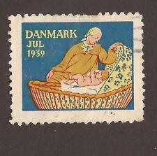 Denmark Cinderella poster stamp. 1939 (used) Mother and child
