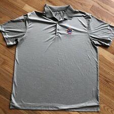 Nike Golf Tour Performance Dri-Fit Men's Chicago Cubs Polo Gray Size XL