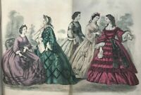 GODEY'S LADY'S BOOK Magazine - Sep 1862 - HAND COLORED FASHION ENGRAVINGS